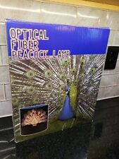Vintage Fiber Optic Peacock Light Color Changing Quickiny Industries New