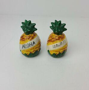 Vintage Aloha Hawaii Pineapple Salt and Pepper Shakers Retro Tiki Kitsch