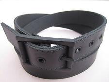 "Mens Womens Leather Stitched Reversible Cotton Web Canvas Golf Dress Belt 1 1/2"""