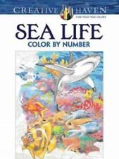 Creative Haven Sea Life Color by Number Coloring Book (Paperback or Softback)