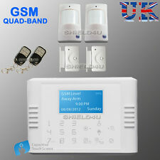 WIRELESS LCD SECURITY DUAL GSM / PHONE LINE AUTODIAL HOUSE OFFICE BURGLAR ALARM