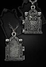 Restyle Halskette Medaillon Tombstone Gothic Lolita Necklace Victorian Steampunk