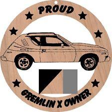 AMC Gremlin X Wood Ornament Engraved