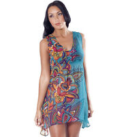 Ladies Kaftan Tunic Top New RRP £35.00 Size 8 - 14 Chiffon
