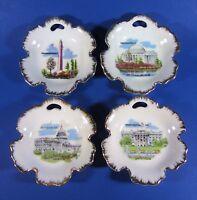 Vintage Washington DC Sights Porcelain Plates Small CAPSCO Japan Set of 4 EUC