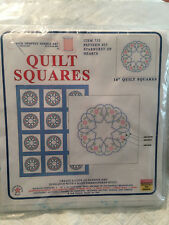 Jack Dempsey Starburst Of Hearts - Quilt Squares For Embroidery