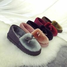 Fashion Winter Women Slipper with Fur Home Outdoor Casual Warm Cotton Shoes Flat