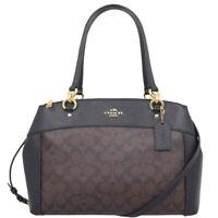 NWT COACH Large BROOKE Carryall Shoulder Bag Handbag Tote Brown Black F26140
