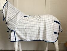 AXIOM POLYCOTTON BLUE CHECK RIPSTOP UNLINED HORSE COMBO RUG 6'6