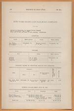 1909 train report NEW YORK SHORT LINE RAILROAD Cheltenham Neshaminy Falls PA