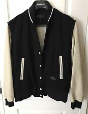 $895 NWT Rag & Bone Women's Leather-Sleeve Edith Varsity Jacket Coat Sz 8