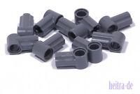 LEGO Technik - 10 x Verbinder Nr. 1 dunkelgrau / Achse Pin / 32013 NEUWARE (e14)