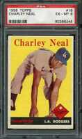 1958 TOPPS #16 CHARLEY NEAL PSA 6 DODGERS *DS7103