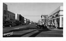 "OXNARD, CA Street Scene Billiard Sign ""Bain Photo Service"" Postcard c1940s RPPC"