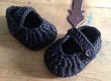 0e06397bb7d Patucos De Bebe Negro 0 3 Meses Zapato Recién Nacido Algodón Nuevo Artesanal