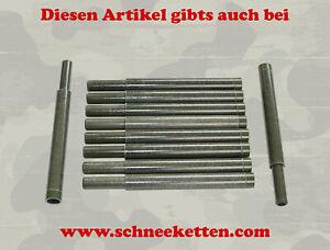 10x Rohr Glasfaserrohre GFK Tarnnetzstangen Stange 400mm steckbar Krone