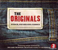 THE ORIGINALS - 60 ROCK POP & SOUL CLASSICS - VARIOUS ARTISTS (NEW SEALED 3CD)