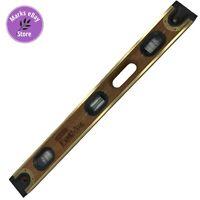 """Vintage Stanley FatMax Brassbound 24"""" Long 6 Vials Wood and Brass #42-345"""