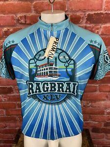 NWT 2017 45th Anniversary Ragbrai Iowa Primal Wear Cycling Jersey Men's XL E183