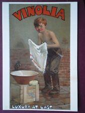 POSTCARD  VINOLIA SOAP LUXURY AT LAST
