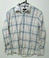 Ben Sherman Mens Shirt Size 2XL Stretch White Check Plaid Long Sleeve Button Up