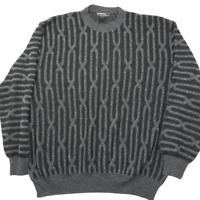 Vintage Mondo Di Marco Men's XL Gray 3D Coogi Cosby Biggie Style Sweater Hip