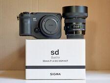 Sigma sd Quattro 29MP Mirrorless Camera + 30mm f1.4 DC HSM Art Lens - Sigma SA