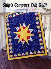 """Ship's Compass Crib Quilt   Finished  Size - 40""""x48-1/2""""    Quilt   Pattern Only"""