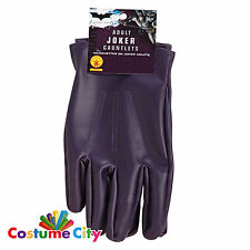 Gli adulti OFFICIAL LICENSED Joker Guanti Batman Cavaliere Oscuro Costume Accessorio