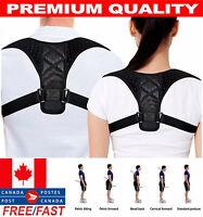 """Adjustable Back Shoulder Support Brace Belt Therapy Posture Corrector (28""""-44"""")"""
