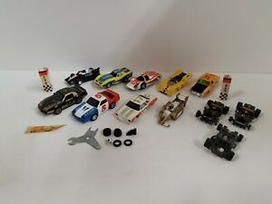 Vintage AFX Tyco Aroura HO Scare Slot Cars Bodies And Chassis Lot