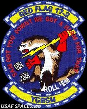USAF 55th FIGHTER SQ -RED FLAG 2017-02- Shaw AFB, SC - ORIGINAL AIR FORCE PATCH