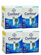 200 Bayer Contour Blood Glucose 50 Test Strips 4 Box of 50 11&12/2020