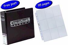 Black Ultra Pro Collectors Album/Binder & 95 Platinum 9 Pocket Pages inc UK Post