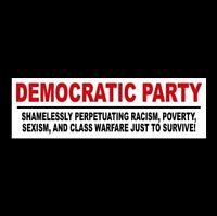 "New ""ANTI DEMOCRATIC PARTY"" Obama Hillary BUMPER STICKER window decal, Trump '16"