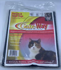 """NEW Gateway Pets Screen Door- For Cats & Small Dogs - 8"""" x 9.5"""" Opening Flap"""