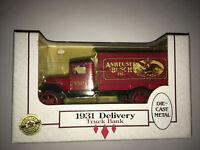 1931 Budweiser Anheuser Busch Delivery Truck Bank Die Cast 1/34 Scale NOS