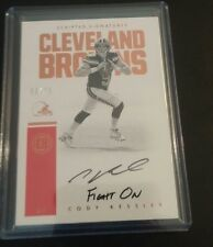 CODY KESSLER Encased FIGHT ON INSCRIPTION Auto Rookie 5/75 JERSEY NUMBERED