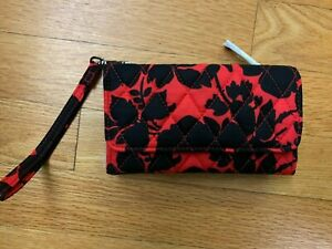 Vera Bradley Smartphone Wristlet in Silhouette Floral, NWT