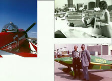 3 - CLEVELAND AIR RACING AIRPLANES COLOR & B&W 4X6 PHOTOGRAPHS - Wittman & Hall