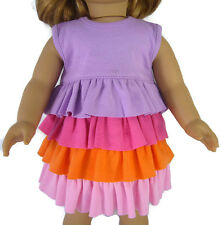 """CLEARANCE Knit Ruffle Dress fits 18"""" American Girl Doll Clothes Sew Beautiful"""