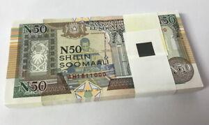 SOMALIA 50 SHILLING 1991 P R2 UNC Lot 25 PCS 1/4 Bundle