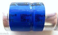 Vishay Philips BC 2200uF 40V Axial capacitor MR MAL212047222E3 105°C 125°C NEW