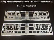 2x Top Kennzeichenhalter Chrom Voll-verchromt Hochglanz Made in EU 52x11cm (44