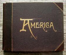 1894 ANTIQUE PHOTO BOOK OLD WEST YELLOWSTONE YOSEMITE NYC TRAVEL U.S. SCENERY