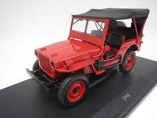 """NOREV 189014  Jeep  """"1942""""  (rot) 1:18 OVP !"""