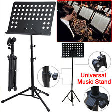 More details for new heavy duty orchestral music stand folding adjustable sheet stand tripod base
