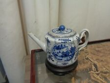 Very rare Blue and white Chinese tea pot late 18 th c