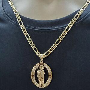 14K Gold Plated Saint Jude pendant with chain Medalla San Judas Oro laminado