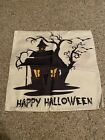 Halloween Haunted House Throw Pillow Case Cover 18x18 Decorative Canvas